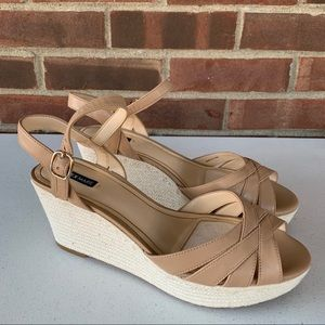 Like new Alex Marie tan leather espadrille sandals